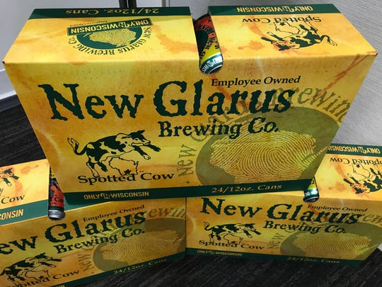 Spotted Cow is now available in 24-packs of cans from New Glarus Brewing.