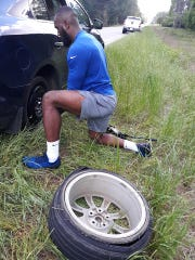 Indianapolis Colts linebacker Darius Leonard is speedy at changing a tire, according to Martha Isbell.