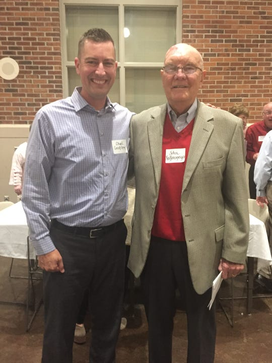 When I was inducted into the City High Hall of Fame in September, John Raffensperger, right, was the very first person to reach out and say congratulations.
