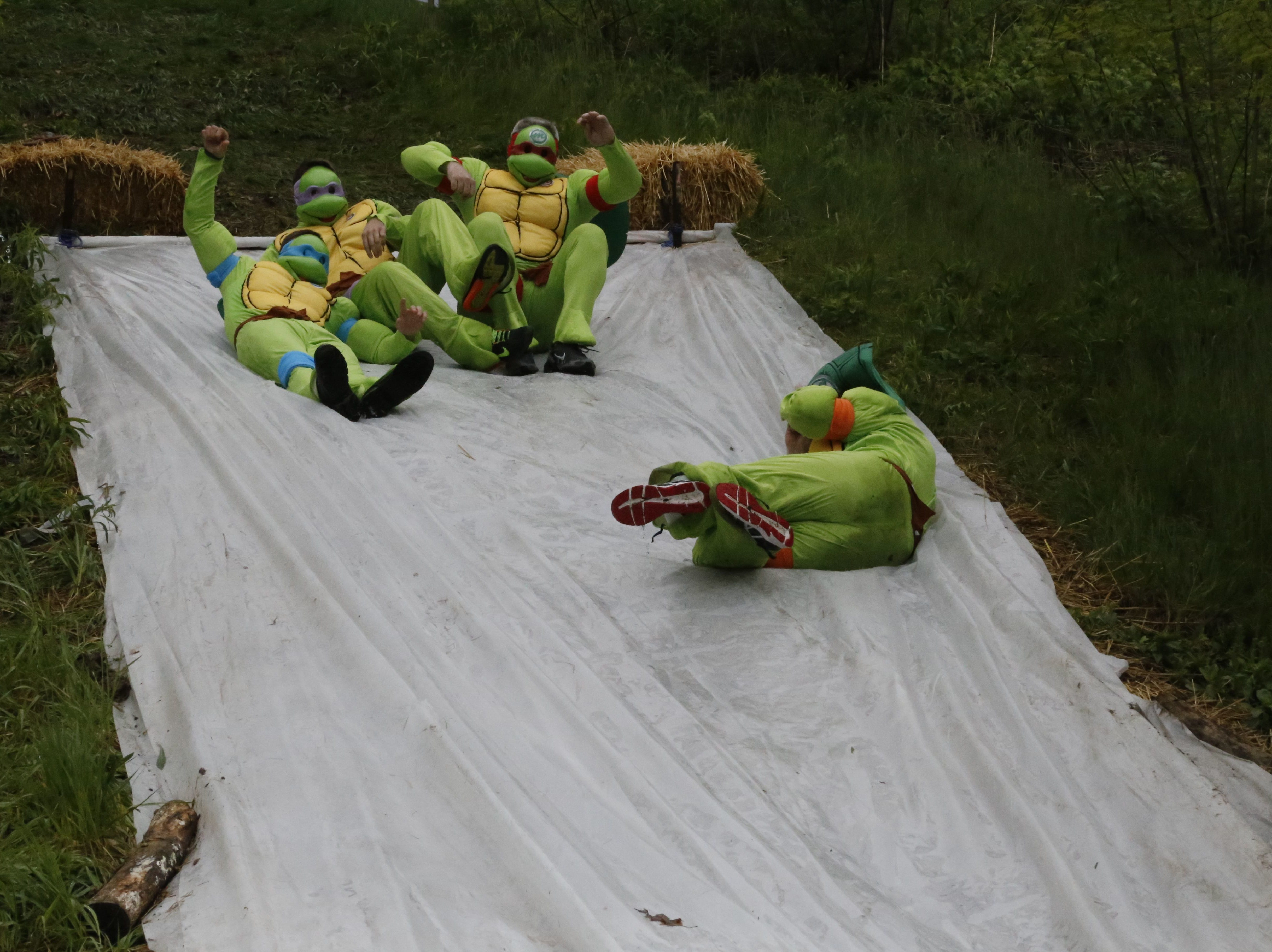 2017: Hundreds of people participated in the Tough Turtle obstacle race to benefit the Ithaca Children's Garden on Saturday, May 6.