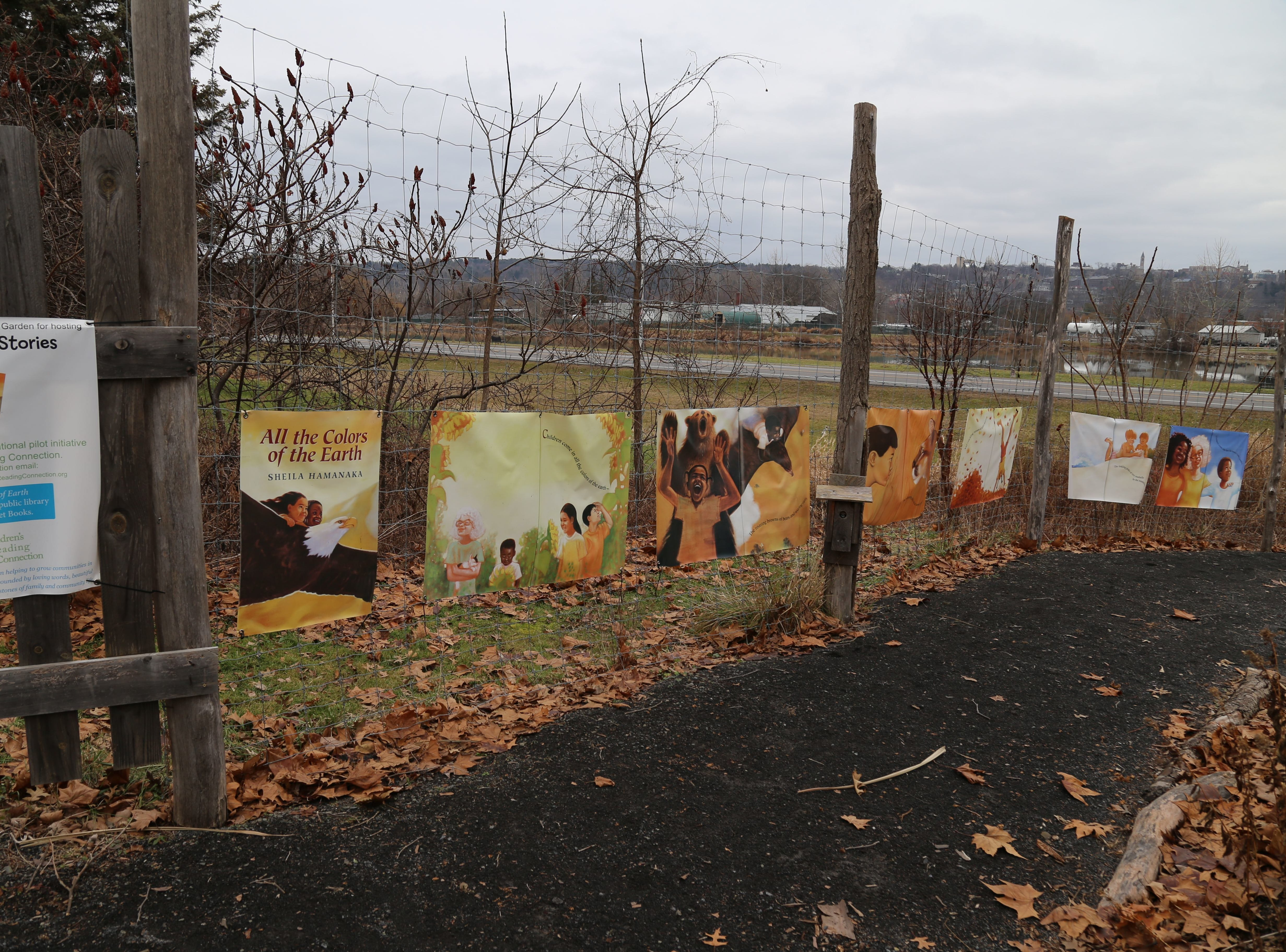"""2019: A walk-along story in the Ithaca Children's Garden features the book  """"All the Colors of the Earth."""""""