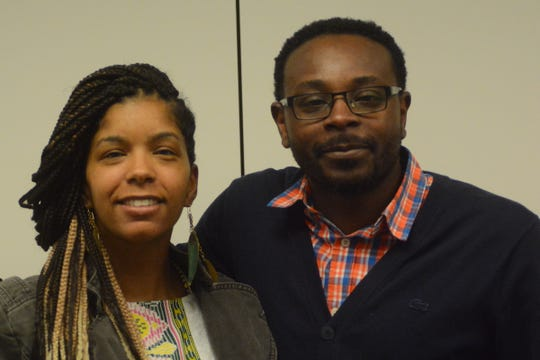 Cassio Batteast, right, a community advocate in Jackson, Mississippi, works in the Jackson Public School District and in the Hinds County juvenile detention center counseling at-risk youth in an effort to end the school-to-prison pipeline. He shares the same methods as Rukia Lumumba, who heads the Credible Messenger and Cure Violence programs.