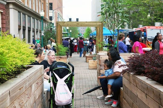 Sherry Wallace had seating available for a more relaxed vibe at the Foodie Friday Festival.