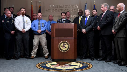 United States Attorney of the Western District of Tennessee D. Michael Dunavant announced the indictment of nineteen suspected members of a drug trafficking organization, Monday, April 22.