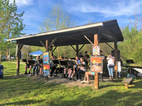 Live music was provided by the Halls High School Jazz band and there was also an outdoor art exhibit at the Halls Outdoor Classroom spring celebration on April 16, 2019.