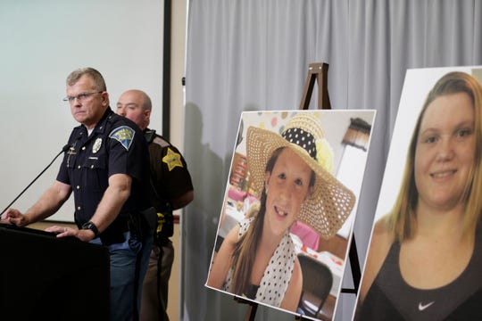 Supt. Doug Carter of the Indiana State Police speaks during a press conference on an update on the Delphi murders investigation, Monday, April 22, 2019 at the Canal Center in Delphi. Abby Williams and Libby German, both Delphi eighth-graders, were murdered while hiking a popular community trail near Delphi on Feb. 13, 2017.