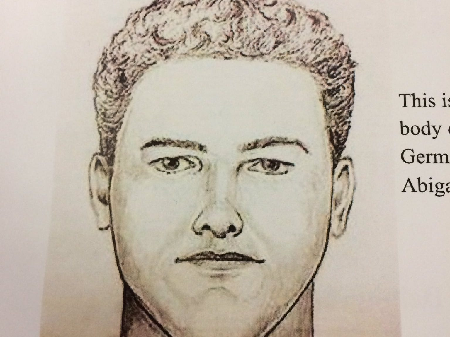 The new composite drawing released by officials on Monday, April 22 of the person suspected in the Delphi Murders.