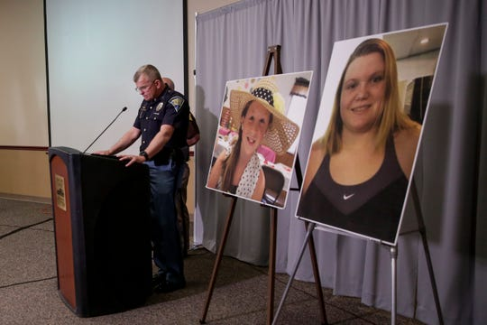 speaks during a press conference on an update on the Delphi murders investigation, Monday, April 22, 2019 at the Canal Center in Delphi. Abby Williams and Libby German, both Delphi eighth-graders, were murdered while hiking a popular community trail near Delphi on Feb. 13, 2017.