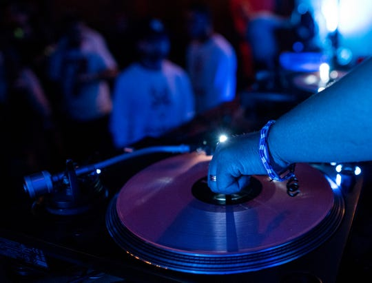 DJ Digital performs at an afterparty during Festival International de Louisiane in downtown Lafayette. Photo courtesy of Clandestine Collective
