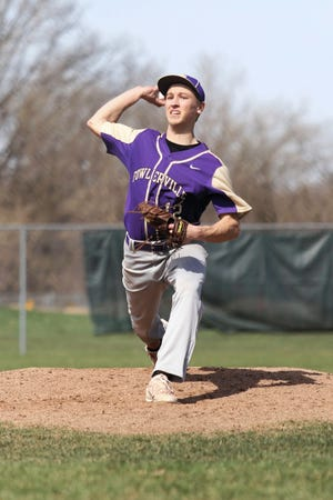 Fowlerville's Caden Flanery held Bay City Western to one run in 9 2/3 innings.