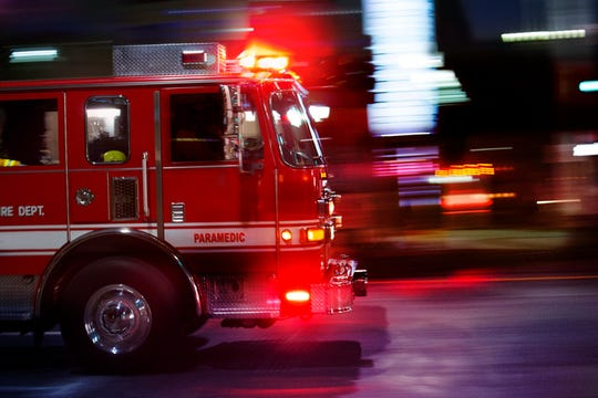A Lansing man died in a house fire in Saginaw Monday morning.