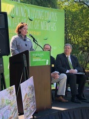 """Vance Lewis, the board president for the Memphis Botanic Garden, said the early injection of funding in the Nourish GreenPrint: 2021 initiative has her """"hopeful and excited"""" for the institution's future. April 22, 2019"""