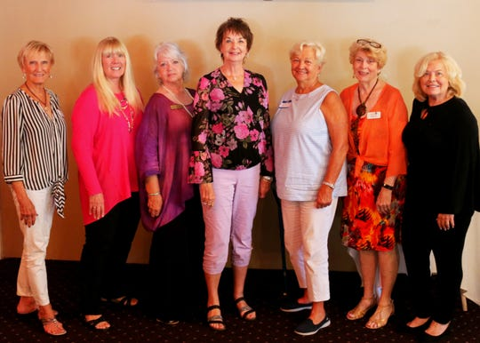 AAUW-Marco Island Branch 2019-2020 board of directors, from left, Josette Bonewitz (secretary), Lynn Tuttle (director for development), Jacky Childress (director for communication), Diane Wetjen (president), Linda Corea and Susan Pullman (directors of membership), Dolores Burton (director for programs).