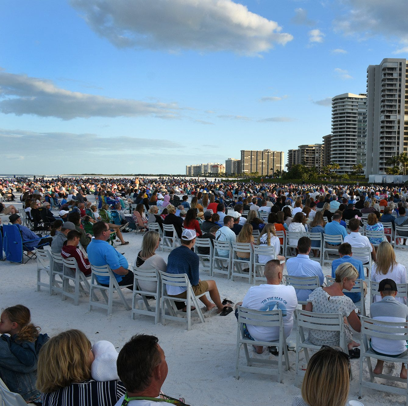 Easter on the beach: 31st Marco sunrise service attracts thousands of worshippers
