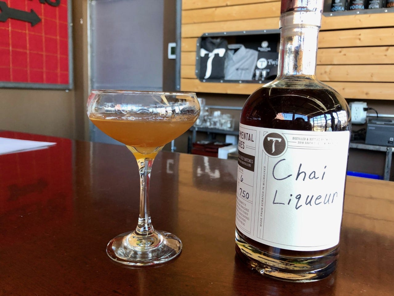 Twisted Path created Chai Liqueur, strong enough to serve as a base for a cocktail.