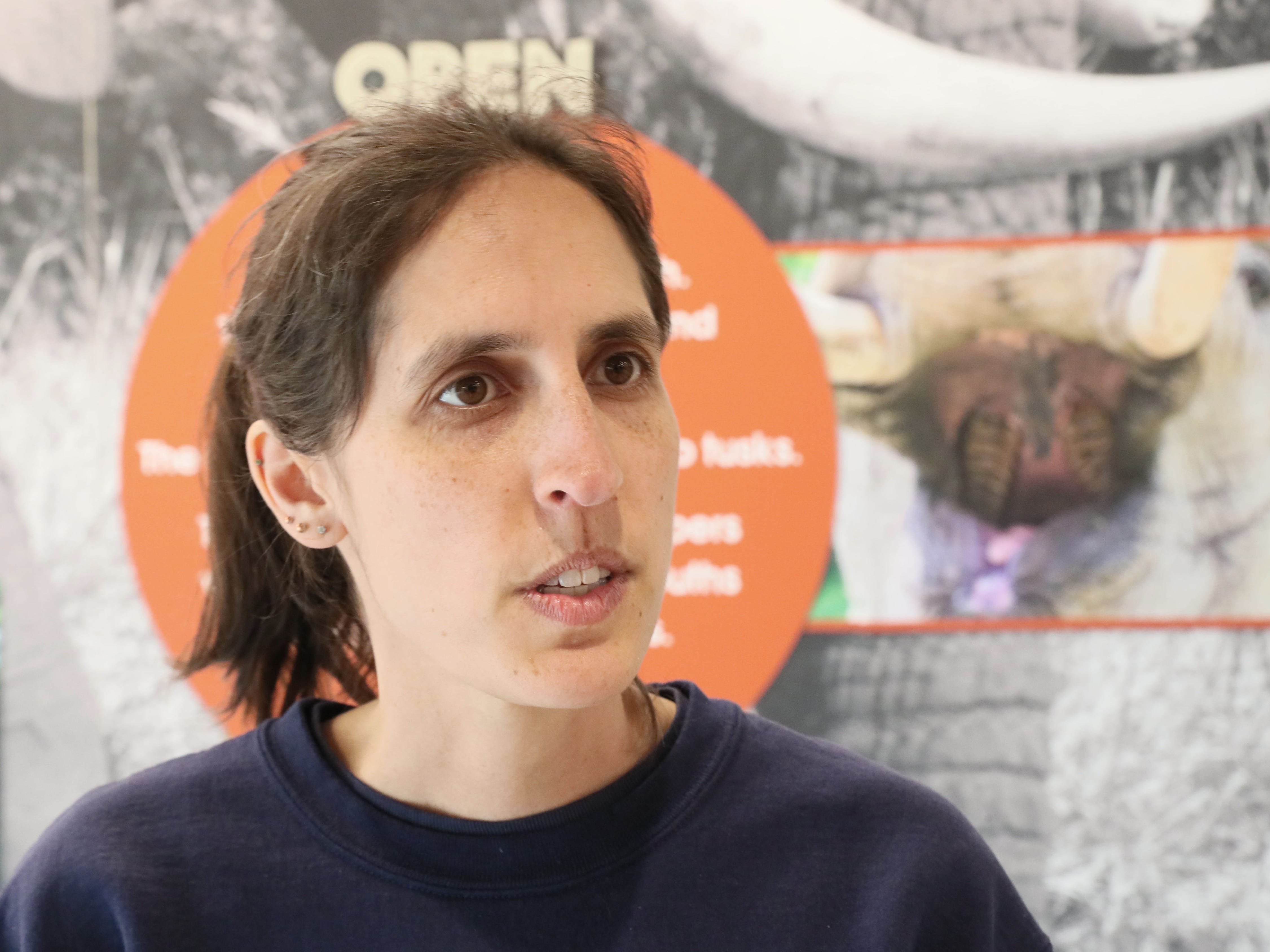 Erin Dowgwillo, elephant care coordinator at the zoo.