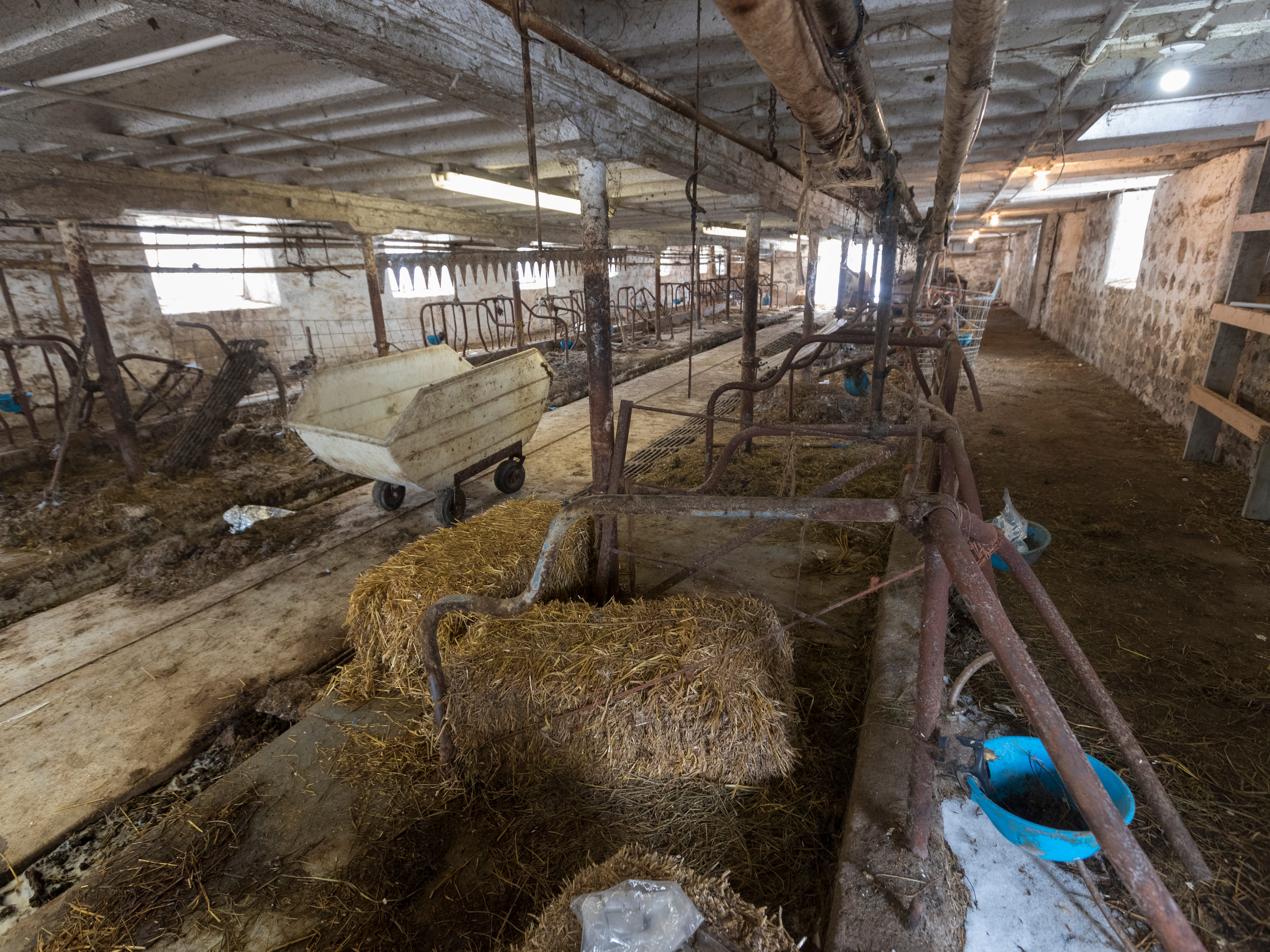 The barn has 44 stalls. The last time a dairy herd was at the farm was in December 2017.