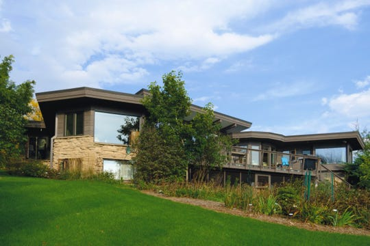 This Manitowoc home on the 2019 Wright and Like tour was designed by Wright contemporary John Bloodgood Schuster.