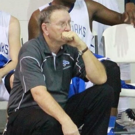 Special to the News-Star Roger Stockton (kneeling) coached boys and girls basketball for 46 years at Epps, Bastrop, ULM and River Oaks. Stockton (kneeling) coached boys and girls basketball for 46 years at Epps, Bastrop, ULM and River Oaks.