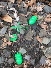 Pieces of a Hasbro 'Cootie' game were found where vandals damaged a historic train car at the Boonton Rail Yards. Police are unsure if they are connected to the suspects.