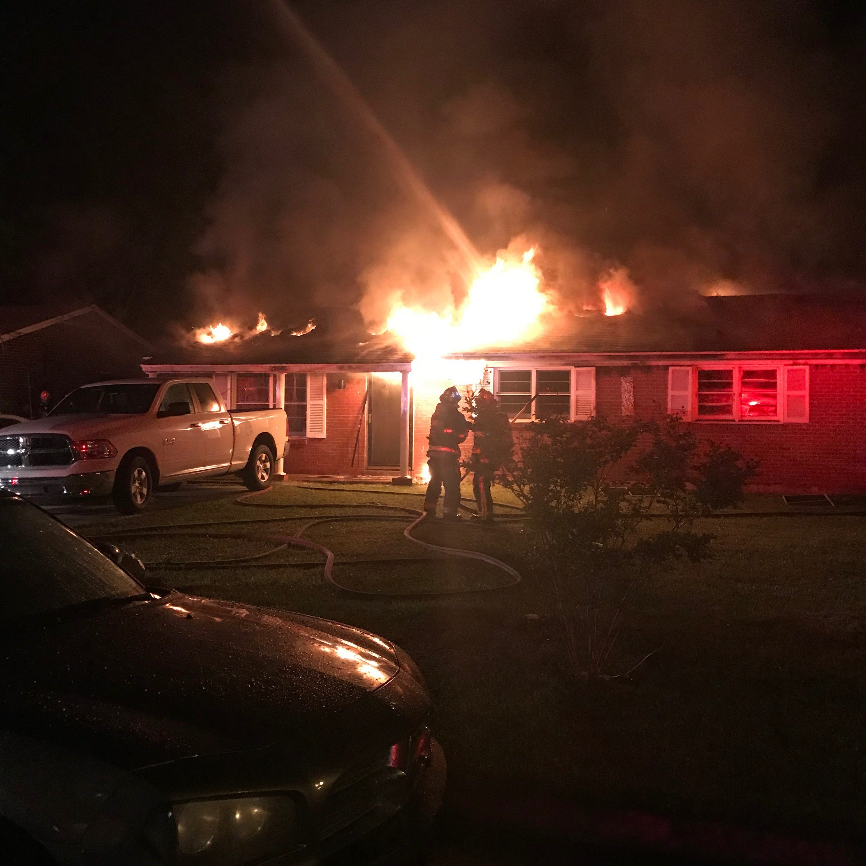 Firefighters battle inferno at Westwood Drive home