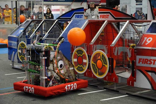 ocal robotics Team 1720, The PhyXTGears, will take its robot, Space Walrus, to Detroit, Mich for the FIRST World Championship competition.
