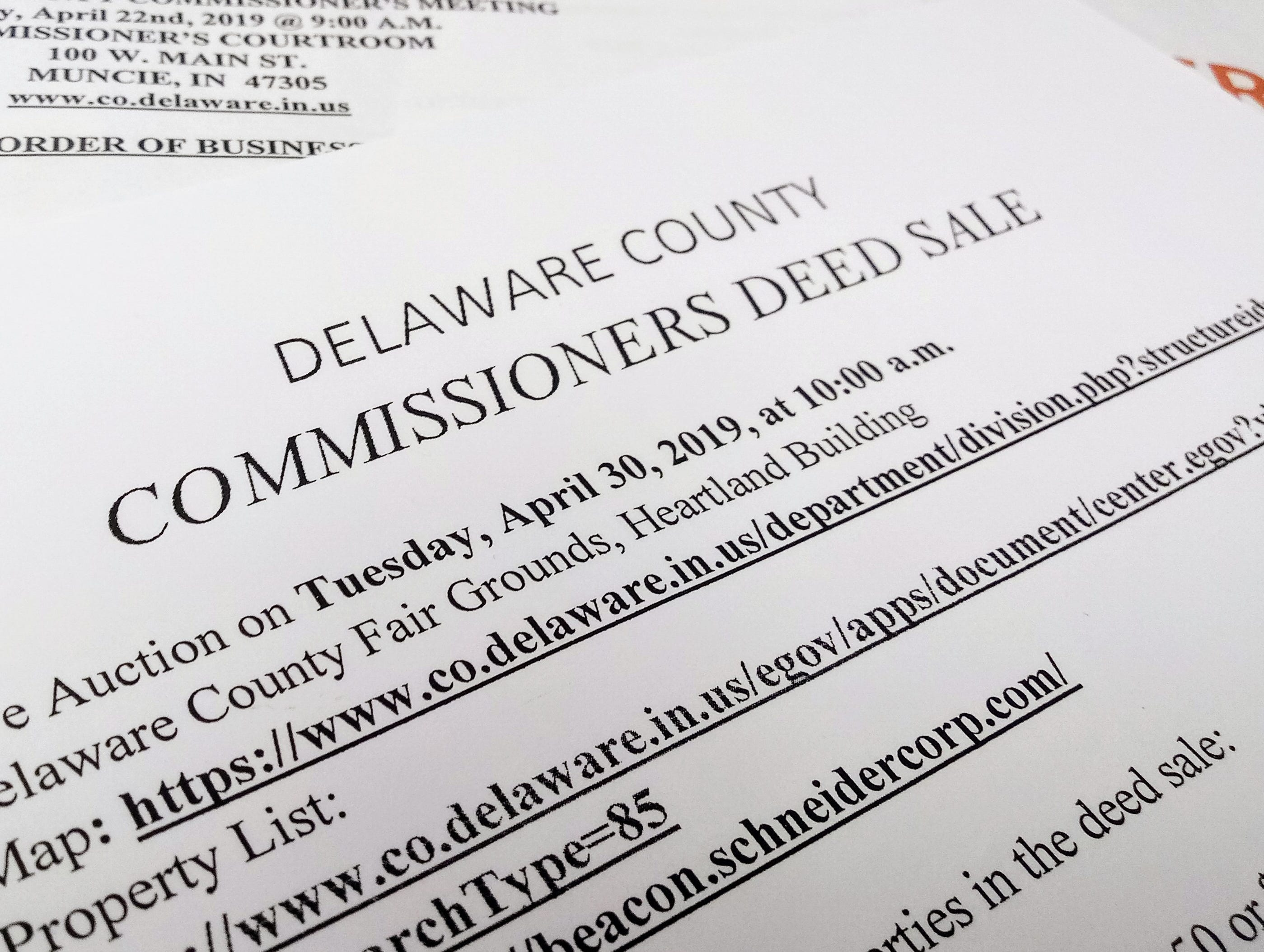 Hundreds of properties up for sale by county commissioners in local deed sale