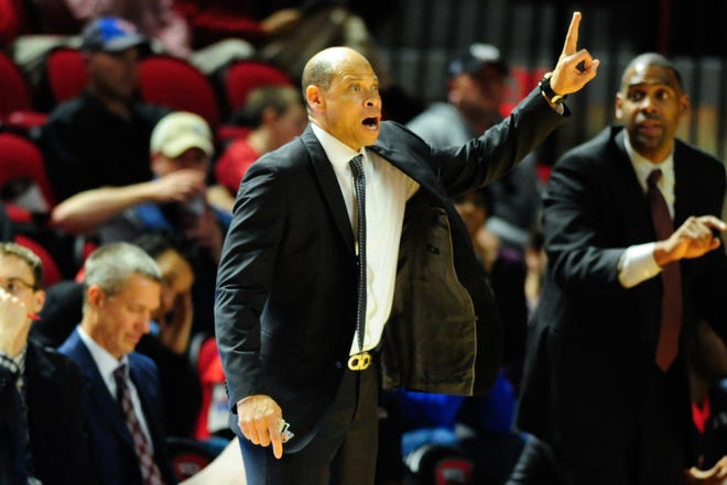 FILE-- Ray McCallum, shown here while coaching Detroit, is joining Tulane's coaching staff.