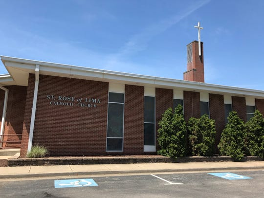 St. Rose of Lima Catholic Church is located on Middle Tennessee Boulevard  in Murfreesboro.