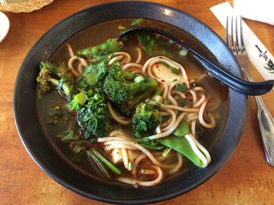 Veggie noodle soup.