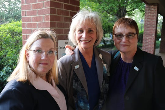 Board Chair Rebecca Dyer, CEO Cindy Siler And Valerie Wilson are pictured together.