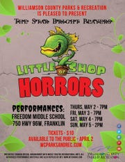 "The Star Bright Players will perform in ""Little Shop of Horrors"" May 2-5 at Freedom Middle School"