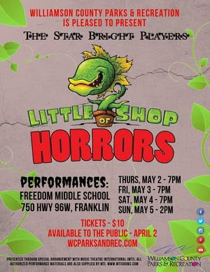 """The Star Bright Players will perform in """"Little Shop of Horrors"""" May 2-5 at Freedom Middle School"""