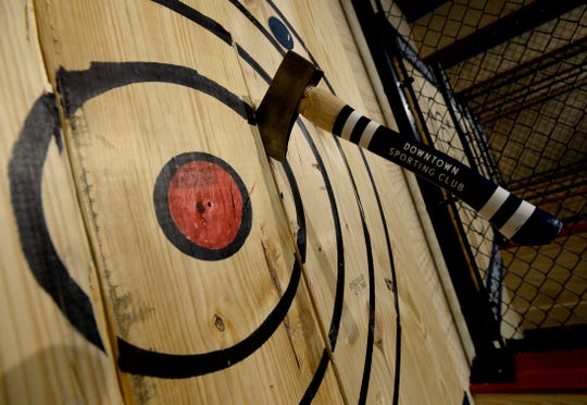 Ax throwing has become a popular entertainment option for date nights, bachelor and bachelorette parties and company work outings.