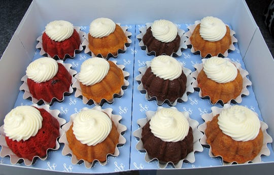 Bundtinis are miniature bundt cakes sold by the dozen in a variety of flavors at the Naples franchise of Nothing Bundt Cakes.