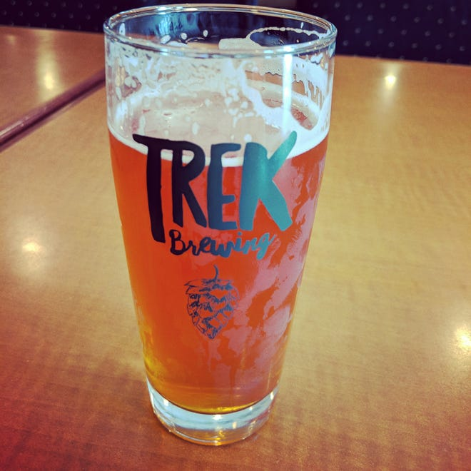 """A Solo Wanderer from Trek Brewing, a mashup of the Solo Hike IPA and Weekend Wanderer Pale Ale. The Brew Crew described it as an """"excellent choice for a hop head looking to blend flavor profiles and try something a little different."""""""