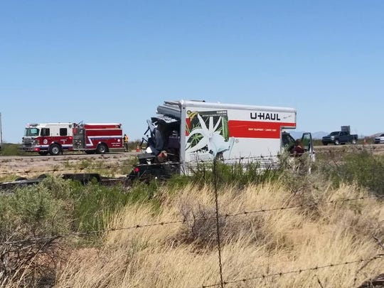 A driver of a semi truck was charged with careless driving after he rear-ended  a U-Haul truck towing a Jeep on Sunday, April 21, 2019 on Interstate 10 near milepost 129 west of Las Cruces. Both the east- and westbound lanes of I-10 were closed temporarily.