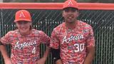 Artesia's Kaden Chumbley and Anthony Armendariz discuss their 1-0 win over Portales on April 20, 2019.
