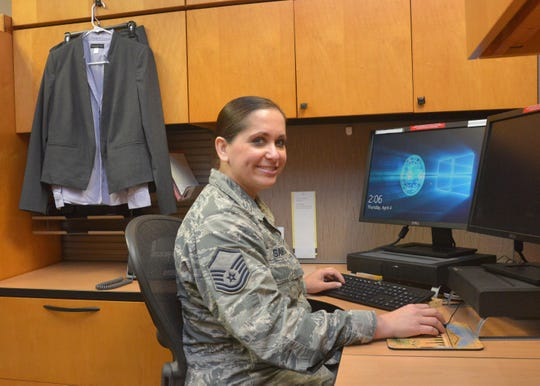 Master Sgt. Angela Santos, Air Force Cryptologic Office,Education and Technology Branch, superintendent, 25th Air Force, began an internship in April through the Air Force Career Skills Program. The program prepares Airmen through vocational and technical training for a specific career or trade when transitioning from military to civilian employment.