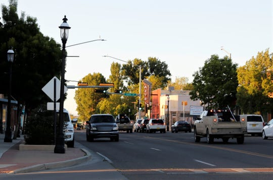 The intersection of Chaco Street and Main Avenue is pictured in May 2018 in Aztec. The City of Aztec is asking residents to avoid travel Saturday night due to a power outage. Traffic lights will not work during the power outage.