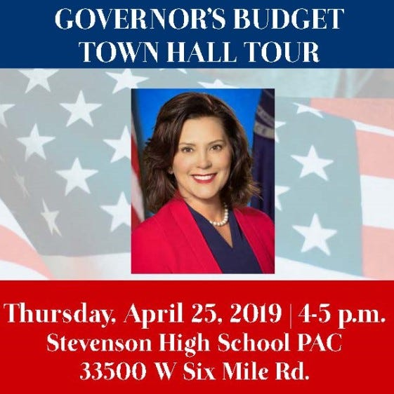 Gov. Gretchen Whitmer bringing budget tour to Livonia