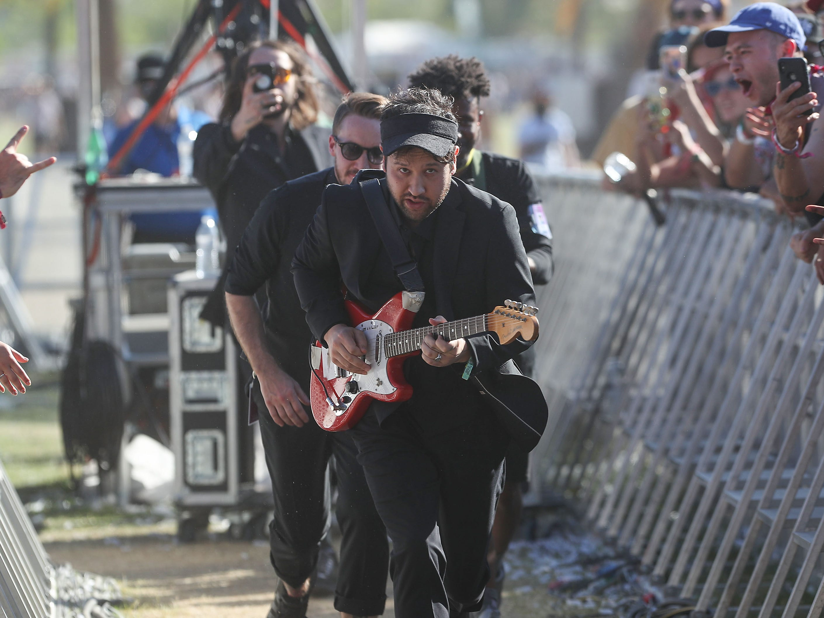 Unknown Mortal Orchestra performs at the Coachella Valley Music and Arts Festival in Indio, April 21, 2019.