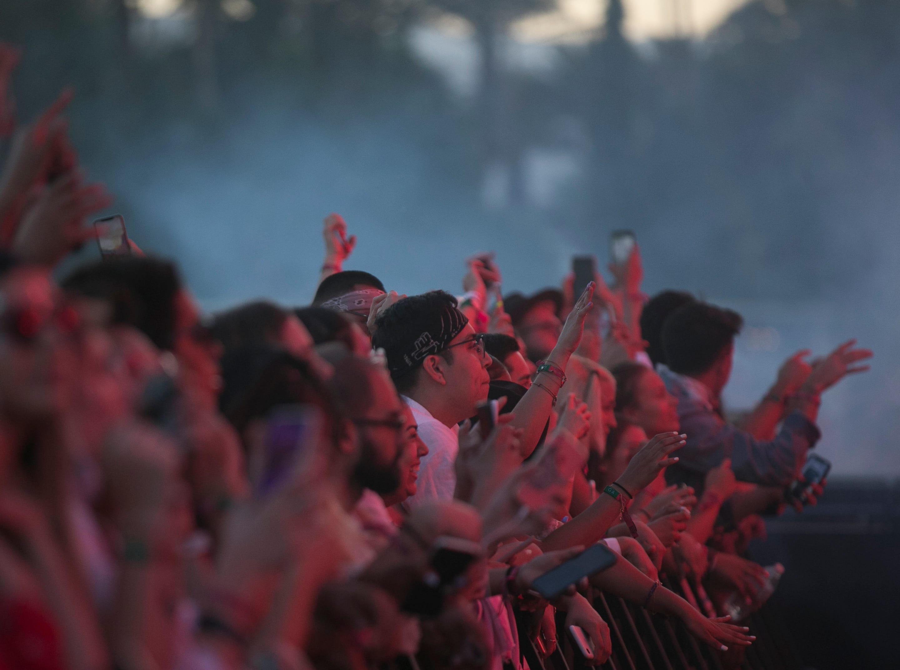 Festival goers dance to Zedd performing on the main stage at the Coachella Valley Music and Arts Festival in Indio, Calif. on Sun. April 21, 2019.