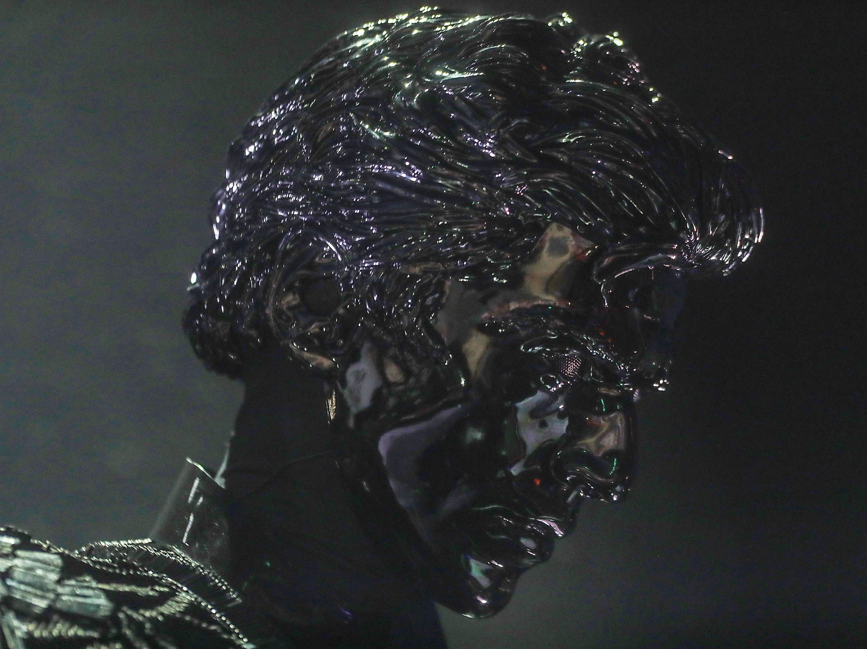 Gesaffelstein performs at the Coachella Valley Music and Arts Festival in Indio, April 21, 2019.