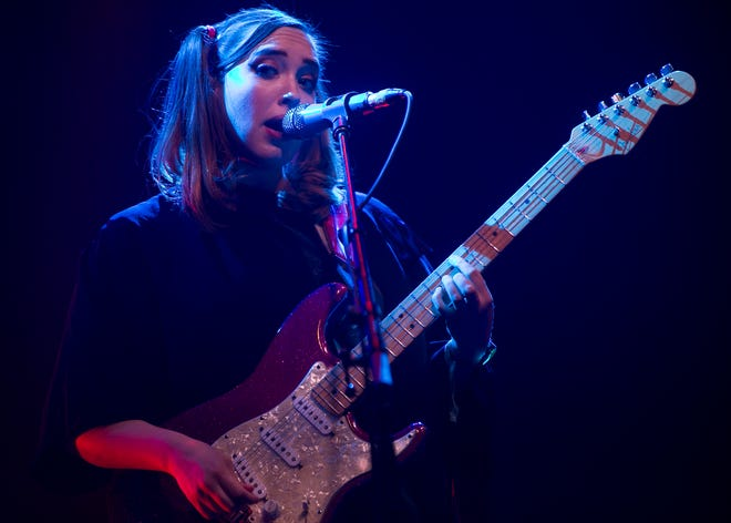 Soccer Mommy performs at the Coachella Valley Music and Arts Festival in Indio, Calif., on April 21, 2019.