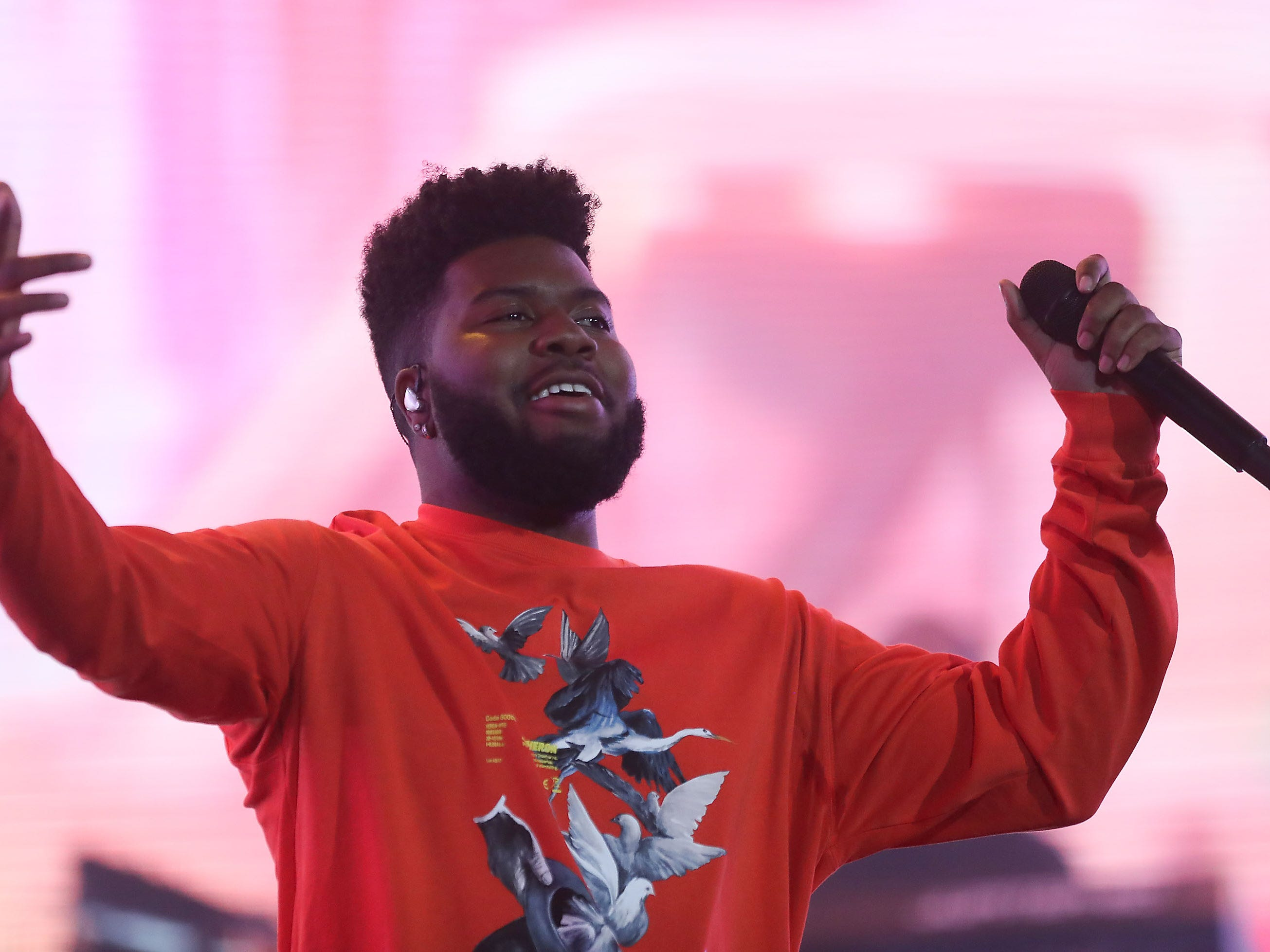 Khalid performs at the Coachella Valley Music and Arts Festival in Indio, April 21, 2019.