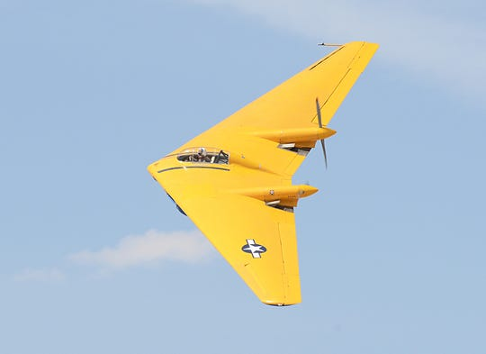 The Northrop N-9MB Flying Wing, built in 1944, performs for the crowd at the first annual L.A. County Air Show in March 2014. This plane crashed on Monday at a state prison in Norco. It was built as the fourth and final plane in a series of test aircraft for the Northrop XB-35 Flying Wing bombers. The aircraft was one of four prototypes built by Northrop, but was the only surviving aircraft left. The plane is the grandfather of today's B-2 stealth bomber. The N-9MB was owned and restored by the Planes of Fame Museum in Chino, Calif.