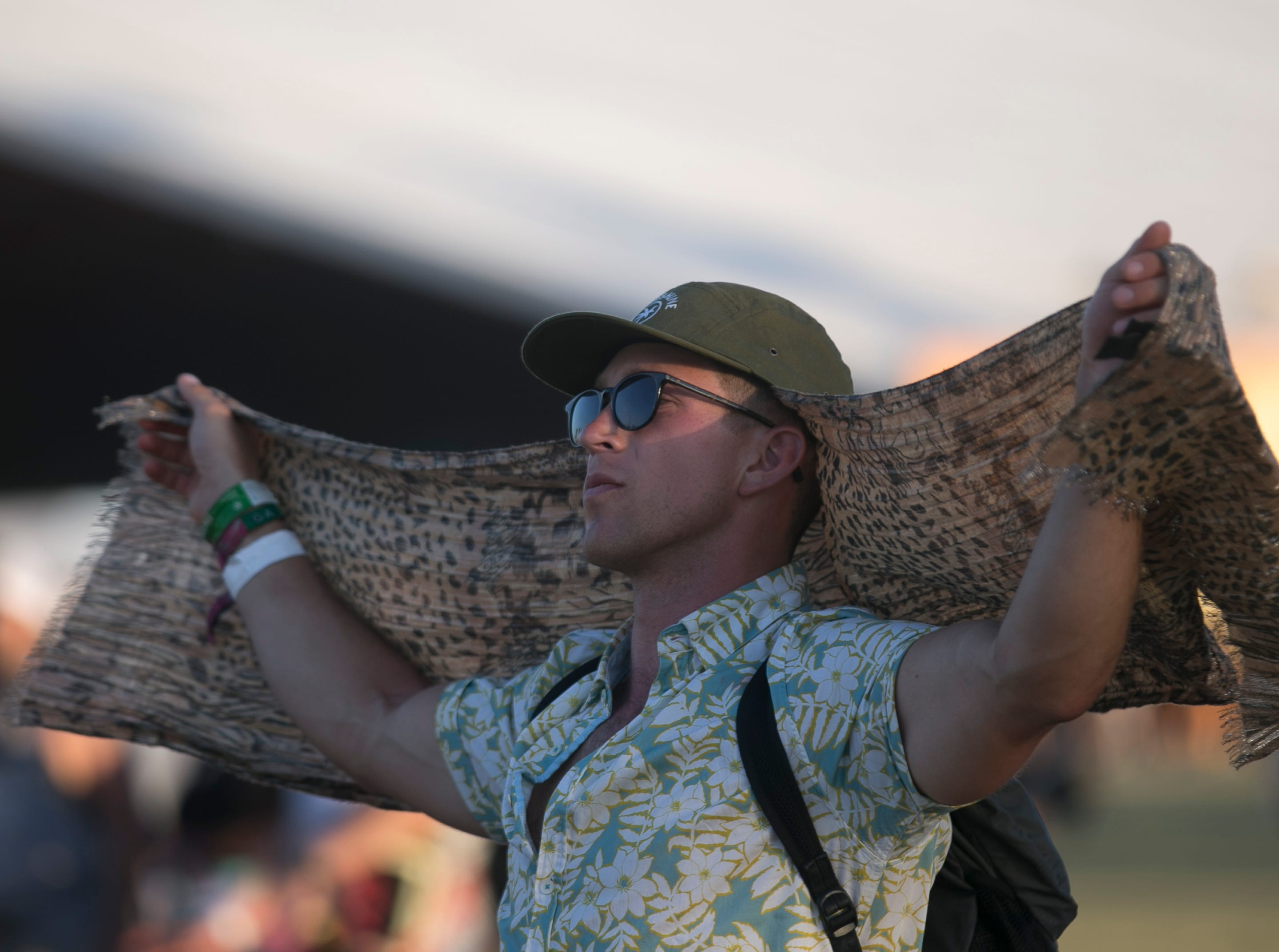 Festival goers watch Blood Orange perform on the Outdoor stage at the Coachella Valley Music and Arts Festival in Indio, Calif. on Sun. April 21, 2019.