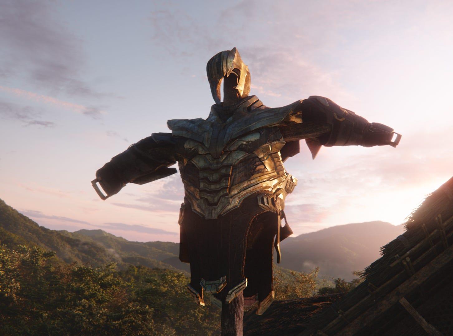 """Thanos' armor is seen in """"Avengers: Endgame."""""""