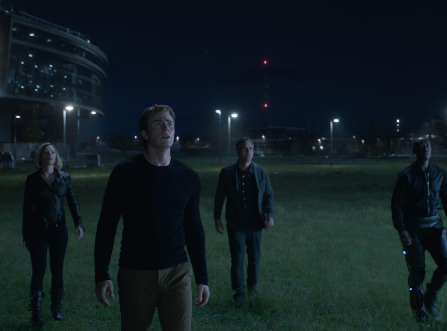 """""""Avengers: Endgame"""" features Scarlett Johansson (from left), Chris Evans, Mark Ruffalo and Don Cheadle."""